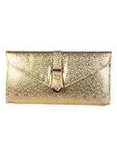 Faux Leather Fashion Gold Sling - Bidesi Jaipur