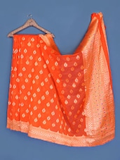Zari Brocade Silk Saree - INDI WARDROBE