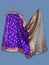 Woven Buti Brocade Silk Saree - INDI WARDROBE