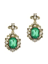 Green Victorian Earrings - Young & Forever