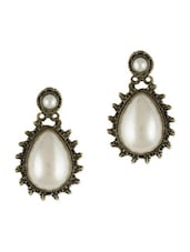 Waterdrop Pearl Embellished Earrings - Young & Forever