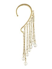 Gold Pearl Dangle Ear Cuff Earring - Young & Forever