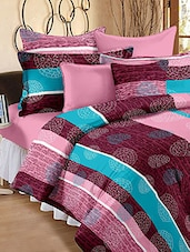 Pink Cotton Printed Double Bedsheet Set - Snuggles