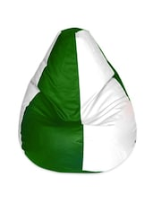 Green & White Large Bean Bag - CLASSIQUE