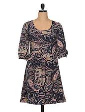 Paisley Printed Polycrepe Dress - SS