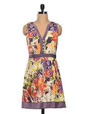 Abstract Printed Polycrepe Dress - SS