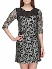3/4 Sleeve Round Neck Dress - KARYN