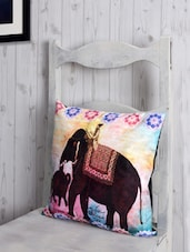 Heritage Print Poly-Velvet Cushion Cover - RAGO