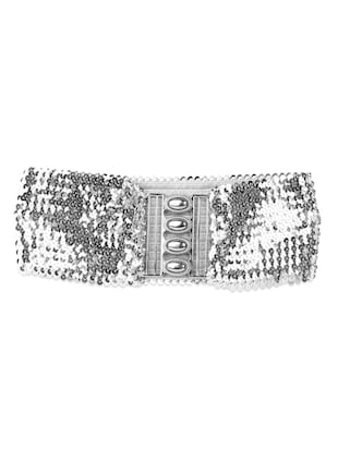 Sequined synthetic belt
