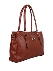 brown leatherette structured bags handbag -  online shopping for handbags