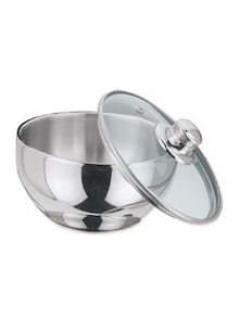 Stainless steel Bowl With Glass Lid