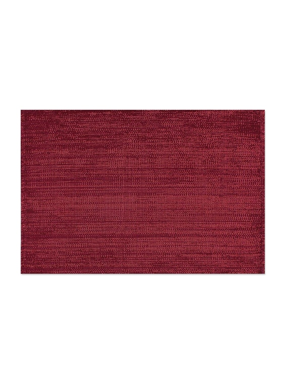 Sanaa Ribbed Placemat Lurex Table Mat Set Of 2Pcs-Dk.Pink-33x48 CM - By