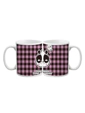 Think Panda Check Printed Mug - Lime Mugs