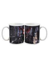 Superman In Rain Printed Mug - Arcart