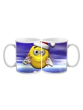 Smiley In Christmas Printed Mug - Start Ur Day