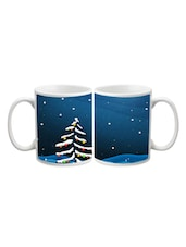 Tree In Snowy Night Printed Mug - Start Ur Day