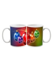 Colorful Christmas Balls Printed Mug - Start Ur Day