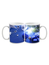 Blue Ball With Stars Printed Mug - Start Ur Day