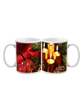 Golden Candle With Star Printed Mug - Start Ur Day