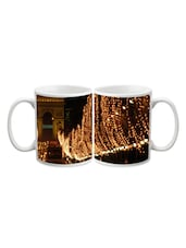 Tree In Yellow Lights Printed Mug - Start Ur Day