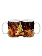 Colorful Light Christmas Night Printed Mug - Start Ur Day