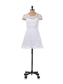 White Lace Dress - Kaxiaa