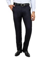 blue colored, Cotton formal trouser - Online Shopping for Formal Trousers