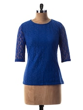 Round Neck Lace Top - Miss Chase
