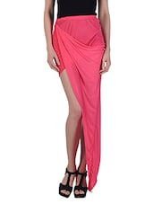 Asymmetrical Draped Sexy Skirt - N-Gal