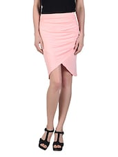 Draped Knee Length Skirt - N-Gal