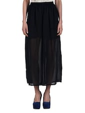 High Waist Wide Chiffon Harem Pants - N-Gal