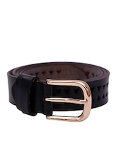 Black Leatherette Belt - By