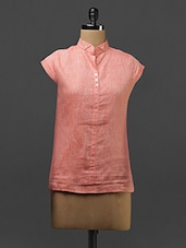 Short Sleeve Linen Top - Yell