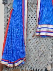 Gota Border Lehariya Georgette Saree - Aari Taari
