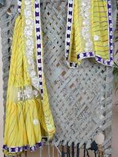 Georgette & Net Gota Embroidered Saree - Libaaz