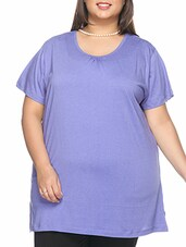 purple cotton tee available at Limeroad for Rs.449