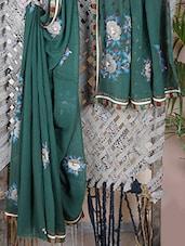 GEORGETTE Gota & Thread Embroidered Saree - Libaaz