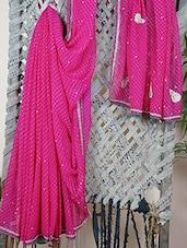 GEORGETTE Gota Patti Embroidered Saree - Libaaz