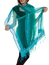 Blue Tissue Plain  Dupatta - By