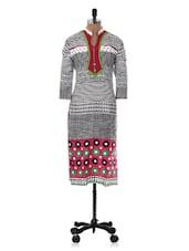 Geometric Printed Cotton Kurti - Sale Mantra