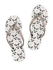 Panda Printed Rubber Flip-Flops - Flipside