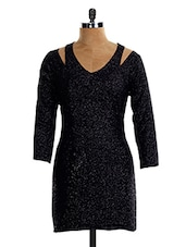 Shimmery Black Min Dress - VEA KUPIA