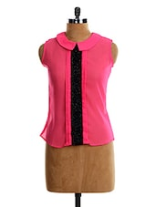Sequenced Peter Pan COLLAR TOP - VEA KUPIA