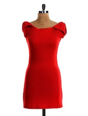 Red Mini Bodycon DRESS - VEA KUPIA