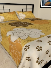 Big Floral Print Double Bedsheet Set - Hemlines