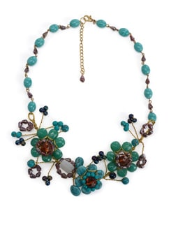 Floral Turquoise Necklace - Accessory Bug