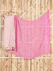 Bandhni Printed Half & Half Georgette Saree - Saree Street