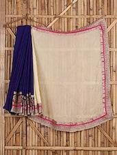 Gota Embroidery Bordered Color Block Saree - Saree Street
