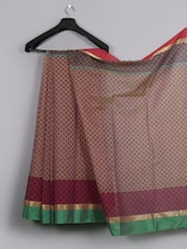 Full Body Printed Cotton Saree - WEAVING ROOTS