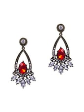 Drop Inspired Stone & Crystal Studded Earrings - Jewelz